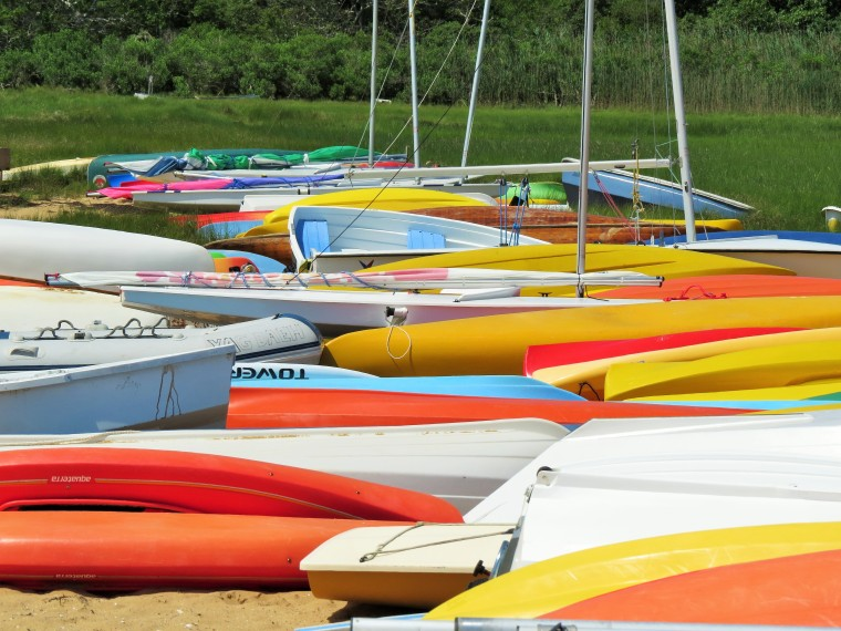 Boats of a different color.