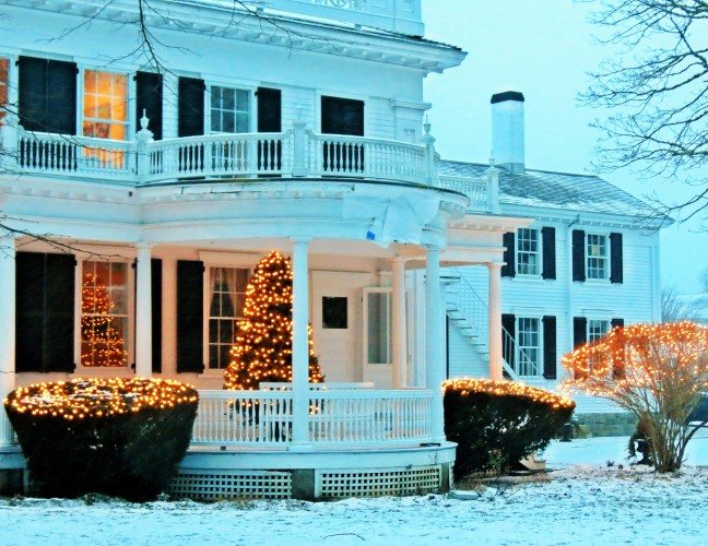 Christmas Lights in Edgartown.